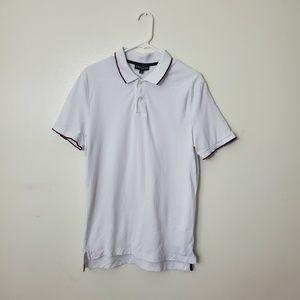 Men's Express White Polo Top